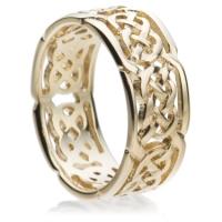 Yellow gold Celtic wedding ring
