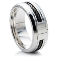 High grade steel alloy wedding ring for men