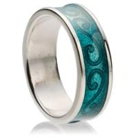 keltische ringe mit inlays aus emaille und ausgefallenen mustern aus silber modeschmuck. Black Bedroom Furniture Sets. Home Design Ideas